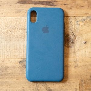 Blue iPhone X XS Apple Silicone Case